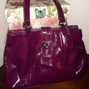 Coach Soho patent leather tote